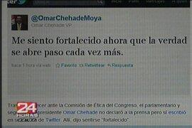 Omar Chehade también se defiende en la red social Twitter