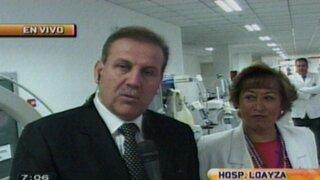 Presentan equipo médico valorizado en 18 millones de soles en hospital Loayza