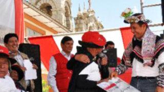 Ollanta Humala: Estamos avanzando con la promesa que hicimos al país
