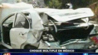 Choque múltiple en autopista de México deja un muerto y varios heridos