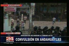 No hay acuerdo entre autoridades de Andahuaylas y el Ejecutivo por conflicto minero