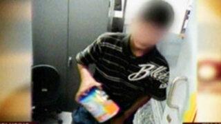 Cámaras de video vigilancia capta a sujetos robando en las tiendas