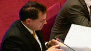 Congresistas solicitarán 120 días de suspensión para Omar Chehade