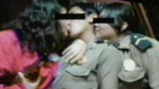 Una nueva sesión de fotos escandalosas al interior de la familia policial
