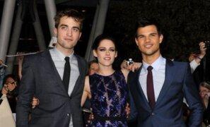 Robert Pattinson y Kristen Stewart en avant premier de Amanecer