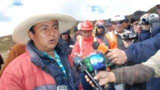 Presidente regional de Cajamarca aceptó donación de empresa minera