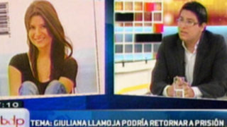 Giuliana Llamoja podría retornar a prisión por incumplir normas de conducta