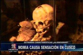 Hallan extraña momia con características no humanas en el Cusco