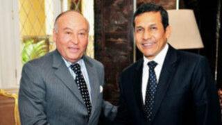 Presidente Humala recibió al presidente de la CAF en Palacio de Gobierno