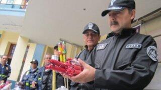 Decomisan una tonelada de productos pirotécnicos en Lima Norte