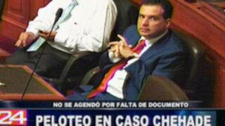 Caso Omar Chehade no se agenda en el Congreso por falta de un documento