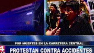 Organizan protestas contra accidentes de tránsito en la Carretera Central