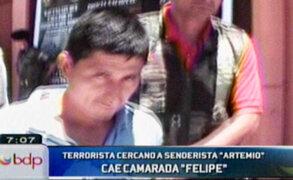 Huánuco: autoridades logran capturar a peligroso senderista