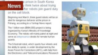 Robots ayudarán a vigilar presos en cárcel de Corea del Sur