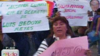 Comerciantes del Estadio Nacional protestan rechazando posible reubicación