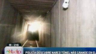 Policía de Estados Unidos descubre el narcotunel más grande del mundo