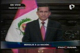 Presidente Ollanta Humala decretó Estado de Emergencia en Cajamarca