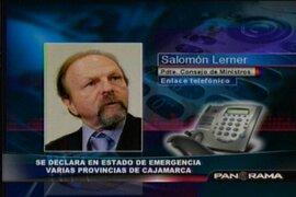 """Primer ministro Salomón Lerner: """"Marco Arana miente"""""""