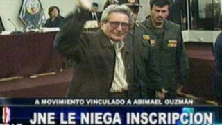 JNE niega inscripción a movimiento de Abimael Guzmán