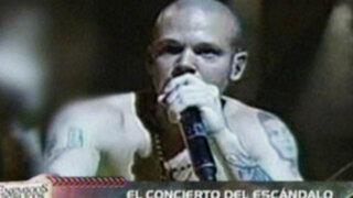 Concierto de agrupación Calle 13 terminó en escándalo