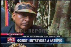 """Terrorista conocido como el camarada """"Artemio"""" quiere negociar manteniendo las armas"""