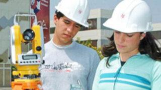 Estudio señala que Ingeniería es la carrera más rentable en el Perú