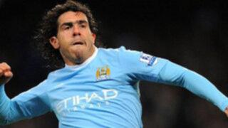 """Carlos Tévez """"pega el salto"""" del Manchester City al AC Milan"""