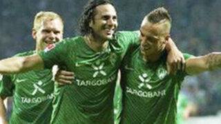 Werder Bremen derrotó 4 -1 al Wolsburgo por la Bundesliga con gol de Pizarro