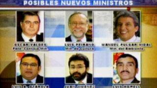 El Dominical le presenta los probables nuevos rostros del Gabinete Valdés