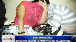 Policía interviene prostíbulo clandestino en SMP y detiene a menores de edad