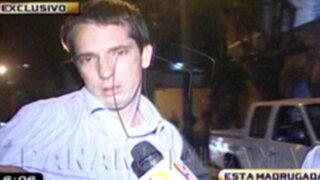 San Isidro: Policía encuentra a chofer ebrio y dormido frente al volante