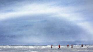Fotografían extraña aparición de  arcoíris blanco en el Polo Norte