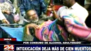 India: Intoxicación con alcohol adulterado deja más de cien muertos