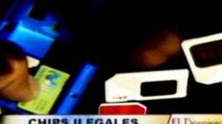 Venta indiscriminada de Chips robados en Lima