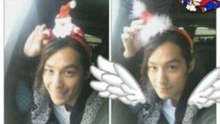 Kim Beom envía saludos navideños a sus fans de Facebook