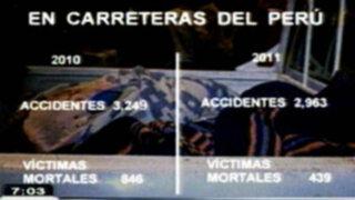 Cifras sobre accidentes de tránsito disminuyen pero las imprudencias continúan
