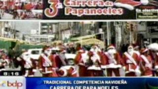 Huancayo: Tradicional carrera pedestre navideña de papanoeles