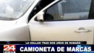 Ayacucho: Policía logra recuperar camioneta robada hace dos años