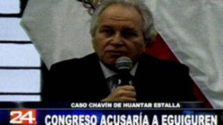 Congreso acusaría a  Francisco Eguiguren por caso Chavín de Huantar