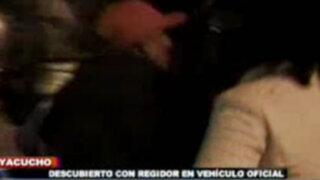 Ayacucho: Alcalde conducía carro oficial en completo estado de ebriedad