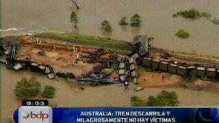 VIDEO: tren se descarrila en el norte de Australia sin dejar víctimas mortales