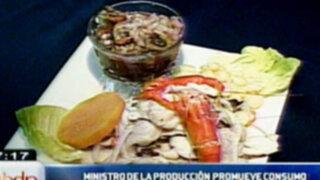 """Ministro de la Producción lanza campaña: """"adiós pavo, a comer pescado"""""""