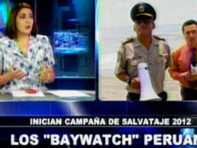 """Policía lanza el programa """"Salvataje 2012"""" en las playas del litoral"""