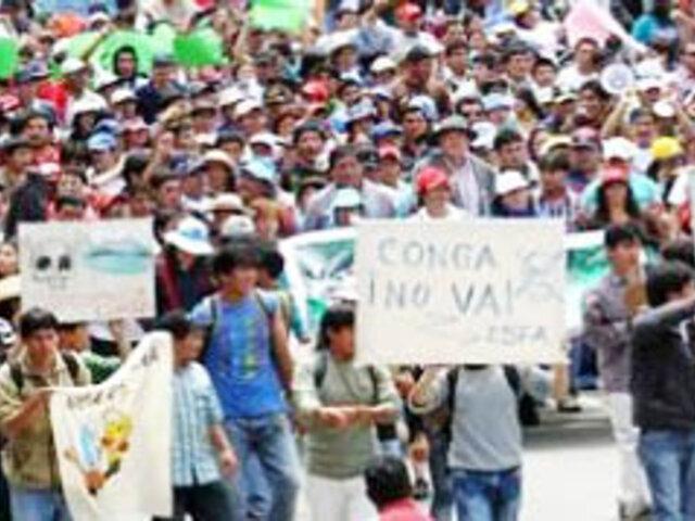 Cajamarca: Autoridades anuncian movilizaciones contra Conga para enero