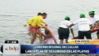 Lanzan plan de seguridad para bañistas en las playas del Callao