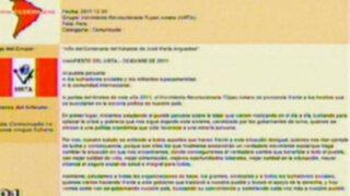 Mediante un comunicado, el MRTA se suma a protestas en Cajamarca