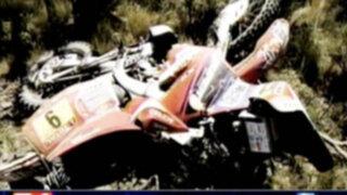 Motociclista sufre Violento accidente durante el Rally Dakar 2012