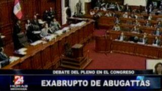 Exabrupto de Daniel Abugattás durante el pleno del Congreso