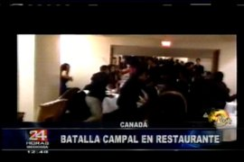 Canadá: batalla campal en restaurante deja heridos y millonarios daños materiales