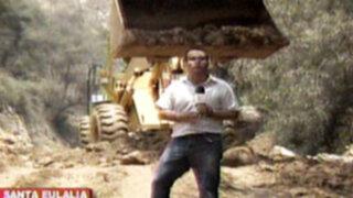 Santa Eulalia: caída de huayco afecta a 9 distritos